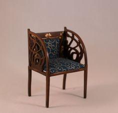 dollhouse miniature furniture art nouveau - art nouveau chair by Inchscaled