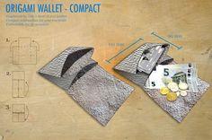 Frauen Geldbeutel aus einem Stück Leder als Origami Geldbeutel