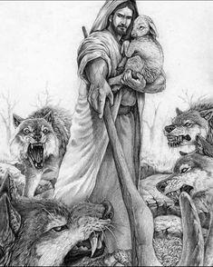 Jesus the great shepherd image