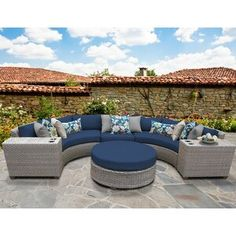 Sol 72 Outdoor™ Merlyn 11 Piece Sectional Seating Group with Cushions | Wayfair Outdoor Sofa Sets, Outdoor Seating, Outdoor Living, Outdoor Decor, Outdoor Ideas, Backyard Ideas, Patio Furniture Sets, Outdoor Furniture, Furniture Design