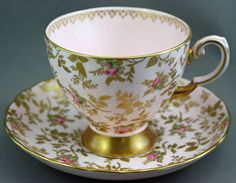 Royal Tuscan Tea Cup Saucer Sunshine Lot A | eBay