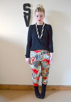 MOTEL Chain Print Baroque Tapered Harem Pants