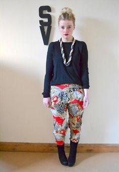 MOTEL Chain Print Baroque Tapered Harem Pants