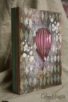 A box for travellers! Shabby chic with Dekor Paint Soft colours of Pentart and stencil