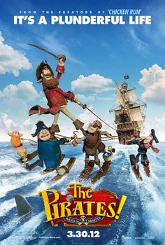 The Pirates! Band of Misfits , starring Hugh Grant, Salma Hayek, Jeremy Piven, Martin Freeman. Pirate Captain sets out on a mission to defeat his rivals Black Bellamy and Cutlass Liz for the Pirate of the year Award. The quest takes Captain and his crew from the shores of Blood Island to the foggy streets of Victorian London. #Animation #Adventure #Comedy #Family