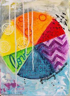 Love it! Ronda Palazzari Finding Balance Art Journal