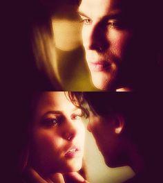 Damon x Elena  This look says it all…
