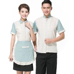2017 Summer Clothes Hotel Work Clothing Blue Lovely Shirt+Half Apron Uniform For Women Teahouse Waitress Uniforms Free Shipping Summer Clothes, Summer Outfits, Cat Hotel, Half Apron, 2017 Summer, Work Wear, Free Shipping, Clothing, How To Wear