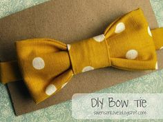 """MADE A LITTLE DIFFERENT VERSION - I USED 1/3"""" ELASTIC FOR THE NECK. EASY INSTRUCTIONS!  DIY Tutorial: Boys Bow Ties and Neck Ties / Diy boys bow tie - Bead&Cord"""