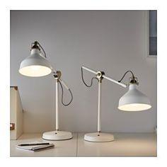 IKEA - RANARP, Arbetslampa, , Du kan enkelt rikta ljuset dit du vill eftersom lampans arm och huvud går att justera.Ger ett riktat ljus som är bra för läsning.