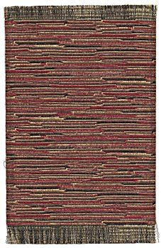 Woven rug - red tones