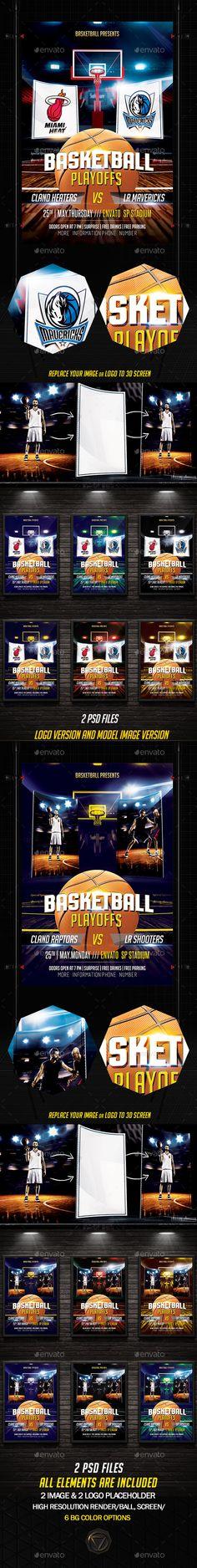 Basketball Playoffs Flyer Template PSD. Download here: http://graphicriver.net/item/basketball-playoffs/16103282?ref=ksioks