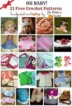 My Hobby Is Crochet: 21 Free Crochet Baby Patterns handpicked on Craftsy by My Hobby is Crochet | Free crochet patterns and tutorials | Scoop.it