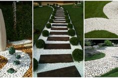 Mesmerizing White Pebble Walkways