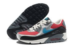938011613ffa Nike Air Max 90 Hyper Red Neon Turquoise Anthracite Clear Grey Womens Shoes   fashion  sneakers