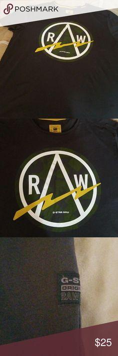 G-Star Raw t shirt Soft cotton T shirt great condition size 2X dark gry & grn. G-Star Shirts