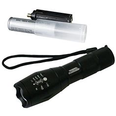 Tactical LED Flashlight - High Power Torch Light is 1000 Lumens utilizing Cree technology - Durable Aircraft Aluminum Alloy for Self Defense, Police, and Military use - Rechargeable -- Continue to the product at the image link.