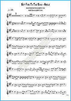 Pista y partitura Set Fire To The Rain de Adele gratis para tu instrumento