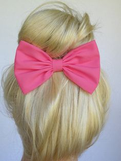 Pink+Hair+Bow+Clip+Hot+Pink+Bow+Clip+Adults+Hair+by+CutieCuteBows,+$4.99