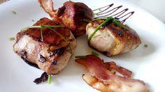 medallones de solomillo de cerdo abrigados en panceta
