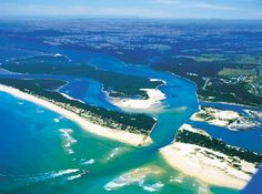 The entrance to the Gippsland lakes system  at Lakes Entrance, Australia. Some of my favourite fishing spots around the (Bullock) island to the right of pic.