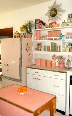 Pink Vintage Kitchen.  For any appliance repair needs, call 1-800-REPAIR-NOW for Repair.com's FREE in-home diagnostic.