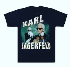 Karl Lagerfeld inspired T-Shirt/100% cotton/best described true to size/ all sizes available S-XL(message for 2x)/Ships 3-5 Business days