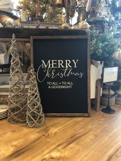 Merry Christmas Wood Sign The Night Before Christmas Sign Country Christmas Decorations, Farmhouse Christmas Decor, Rustic Christmas, Christmas Crafts, Xmas Decorations, Natural Christmas, Homemade Christmas, Christmas Wedding, Merry Christmas Sign
