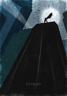 Alternative movie poster for Batman by Rany Atlan
