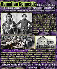 canadian genocide , native american children - Still to this day the way Natives are treated in Canada is disgusting and down right fucking sad. Native Child, Native American Children, Native American History, Native American Indians, American Symbols, Native Indian, Native Art, Aboriginal Children, Aboriginal Education