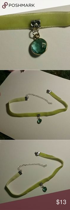 """Green Godess Choker 13"""" inches long with additional length from the extender Poetry in Motion Jewelry Necklaces"""