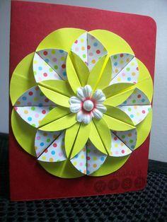 My first flower card 3D- YOYE  yoye-creations.blogspot.com