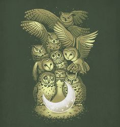 """""""owl and moon"""""""