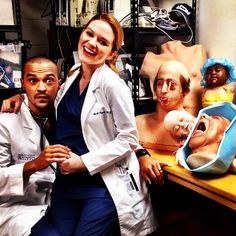 Jesse Williams and Sarah Drew #Japril