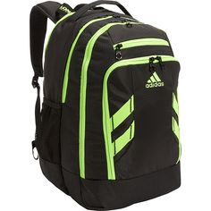 5b047c6ffb Image of adidas Rush Backpack Black Solar Green - adidas Laptop Backpacks