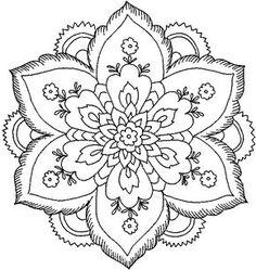 desenho flor para colorir