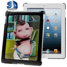 For+iPad+4/3/2+3D+Effect+Style+Dancing+Boy+Pattern+Plastic+Case