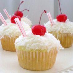 3. Pina #Colada Cupcakes - 7 #Boozy Cupcake #Recipes ... → Food #Liqueur