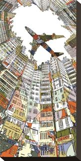 Kowloon Walled City Art Block - In the work of Japanese artist HR-FM, digital illustration meets pop art. Art And Illustration, Illustrations, Japanese Illustration, City Art, Kowloon Walled City, Perspective Drawing, Point Perspective, Arte Pop, Art Graphique