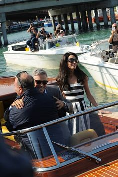 images from george and amal wedding | of George Clooney and Amal Alamuddin in Venice ahead of their wedding ...