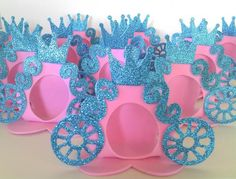 Cinderella Party Favors: 55 Wonderful Ideas for Your Party! Cinderella Party Favors, Cinderella Crafts, Kids Crafts, Cinderella Coach, Kids Vest, For Your Party, Princesas Disney, Princess Party, Box Art