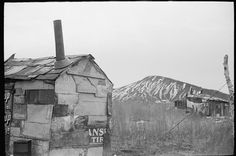 Untitled photo, possibly related to: A shanty built of refuse near the Sunnyside slack pile, Herrin, Illinois. Library of Congress Prints and Photographs Division Washington. Herrin Illinois, Grapes Of Wrath, Great Depression, Women's History, Library Of Congress, Kinds Of People, Once Upon A Time, Division, Mount Rushmore