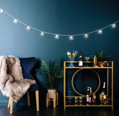 String lights are great for dorm rooms, but they don't have to look collegiate. Here, 22 of our favorite (genuinely cute, genuinely un-tacky) ways to decorate with string lights inside and outside. Patio Lighting, Living Room Lighting, Bedroom Lighting, Lighting Ideas, String Lights In The Bedroom, Indoor String Lights, String Lights Indoors, Apartment String Lights, Urban Barn