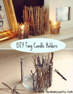 Pinterest Finds: DIY Candle Holders