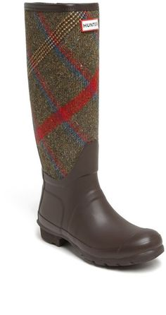 Hunter Original Mallalieus Plaid Rain Boot.
