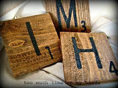 Scrabble Tile Wall Plaques