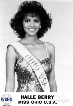 Halle Berry won the title of Miss Ohio USA in 1986, and then 1st Runner-Up at Miss USA .