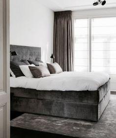 Clairz Interior Design – House in Leiden – High ■ Exclusive living and garden … Bedroom Inspo, Home Bedroom, Master Bedroom, Bedroom Decor, Room Interior, Home Interior Design, Classic Interior, Farmhouse Style Bedrooms, Parents Room