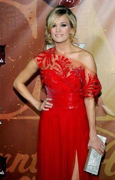 Carrie Underwood Red Dress for CMA 2010  #swagpinreddress ®... #{T.R.L.}