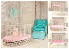 The beautiful j'adore in white. Starts as a cradle, goes to crib and then toddler bed.  Sa weet!